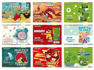 Blok rysunkowy kolorowy A4 20k. INTERDRUK Angry Birds Classi