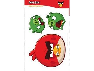 Naklejki dekoracyjne A3 komplet 4 arkusze Angry Birds Classi