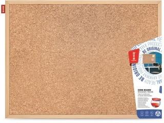 Tablica korkowa MEMOBE rama drewniana 80x50cm