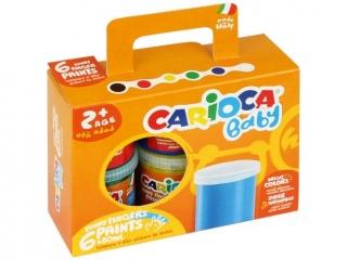 Farby tempery do malowania palcami CARIOCA 6 kolorów