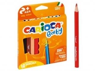 Kredki o³ówkowe trójk±tne CARIOCA Baby 10 kolorów