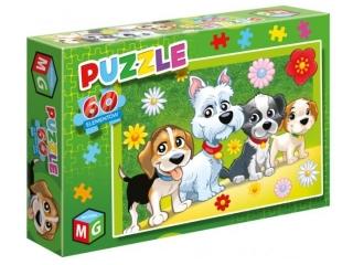 Puzzle   60 MULTIGRA Pieski kwiatki
