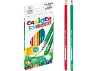 Kredki o³ówkowe wymazywalne CARIOCA Tita 12 kolorów