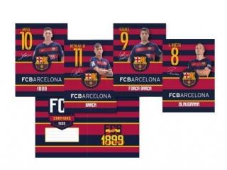 Zeszyt A5 16k. ASTRA FC Barcelona Barca Fan 4 trzy linie kol