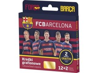 Kredki grafionowe ASTRA 12 kolorów - FC Barcelona