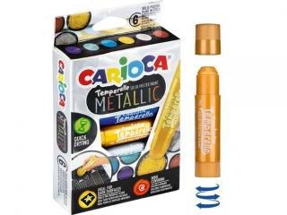 Farby w sztyfcie TEMPERELLO 6 kol. metalicznych (42674)