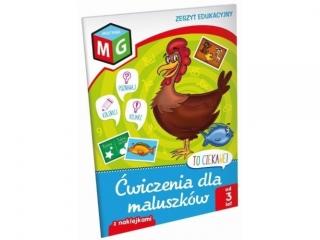 Zeszyt edukacyjny z naklejkami MULTIGRA Æwiczenia dla maluszków
