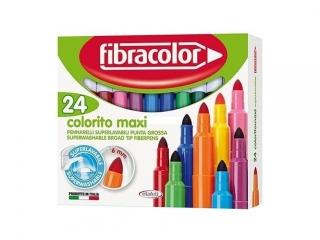 Mazaki FIBRACOLOR Colorito Maxi 24 kolory