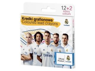 Kredki grafionowe ASTRA 12 kolorów - Real Madryt