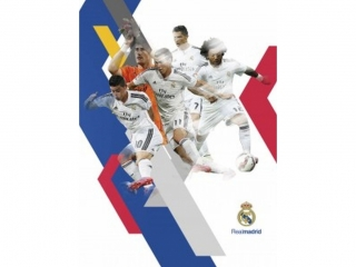 Zeszyt A5 16k. ASTRA Real Madrid trzy linie kolor