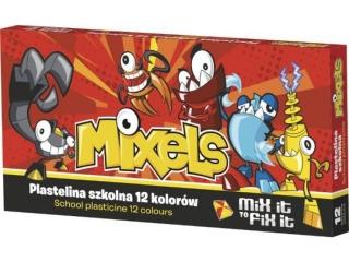 Plastelina szkolna ASTRA 12 kolorów Mixels