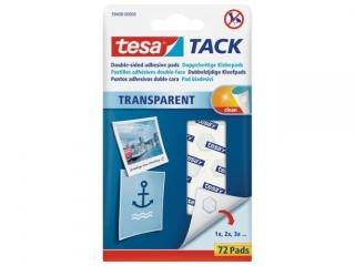 P³atki samoprzylepne TESA Tack 72 szt. Transparentne