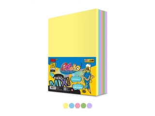 Papier ksero A4 mix 5 kolorów 500 arkuszy PASTELOWE