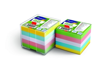 Kostka nieklejona kolor pojemnik 85x85 mm 800 kartek