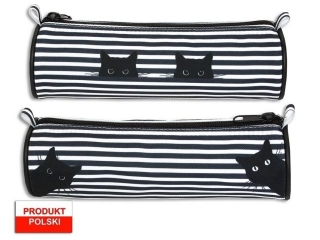 Piórnik tuba WARTA 626 koty - czarny