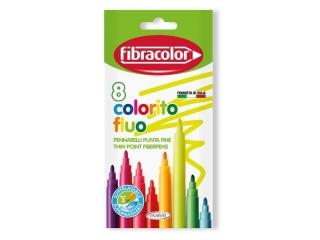 Pisaki FIBRACOLOR Colorito FLUO x 8 kol. Fluorescencyjne 3 m