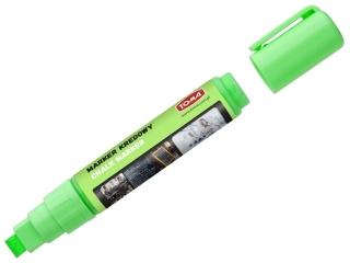 Markery kredowe, koñcówka ¶ciêta 5x8mm, 8g tuszu zielony Pud