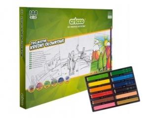 Kredki CRICCO trójk±tne 12x12 kolorów, zestaw szkolny