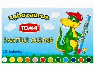 Pastele olejne TOMA Zêbozaurus 12 kolorów