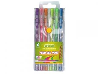 D³ugopisy ¿elowe fluorescencyjne CRICCO 6 kolorów