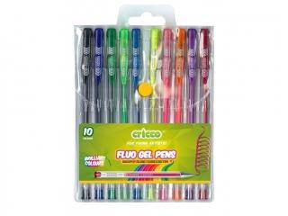 D³ugopisy ¿elowe fluorescencyjne CRICCO 10 kolorów
