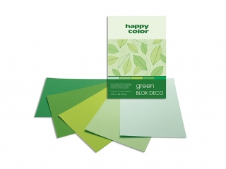 Blok Deco A5 20k. HAPPY COLOR Green 170g 5 kol. tonacja ziel