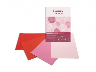 Blok Deco A5 20k. HAPPY COLOR Rose 170g 4 kol.