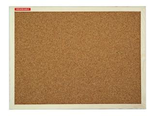 Tablica korkowa 80x50cm drewniana, p³yta kartonowa