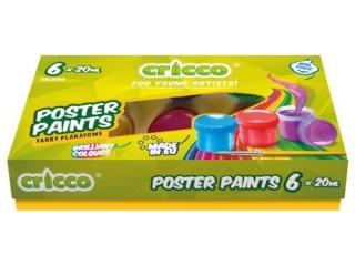 Farby plakatowe CRICCO 20ml 6 kolorów