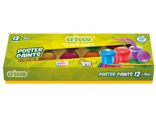 Farby plakatowe CRICCO 20ml 12 kolorów