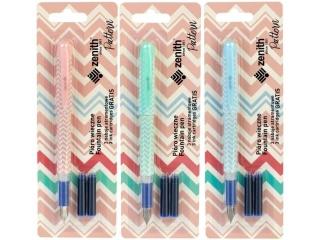 Pióro wieczne Zenith Pattern na blistrze + 3 naboje atrament