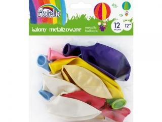 "Balony FIORELLO 12"" METALIC mix kolorów 12szt."