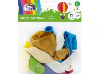 """Balony FIORELLO 12"""" PASTEL mix kolorów 12szt."""