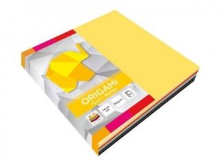 Papier do origami INTERDRUK 14x14cm fluo+pastele a100