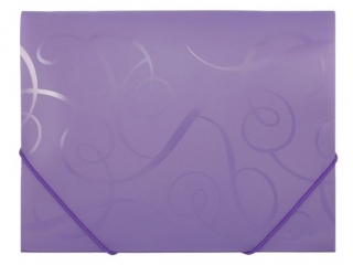 Teczka PCV z gumk± BAROCCO fioletowa FO21431 [opakowanie=12