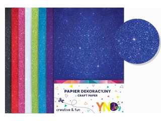 Papier dekoracyjny brokatowy YN JOY NC-01