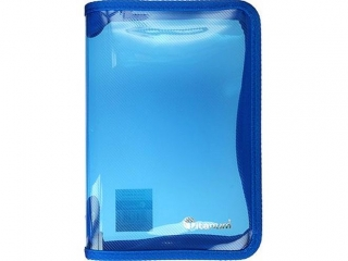 Teczka na suwak TITANUM A5 niebieska