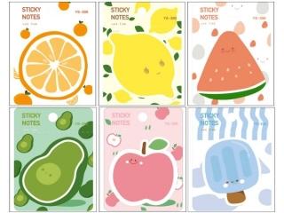 Karteczki samoprzylepne M&G Fruits, 7,6x7,6cm, 40ark