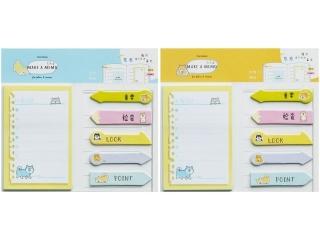 Karteczki samoprzylepne Make a Memo, zestaw 6 wzorów, 10,2x5