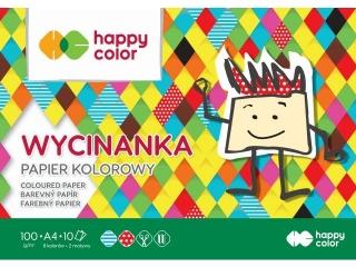 Blok Wycinanka, A4, 10 ark, 100 g, Happy Color [opakowanie=1