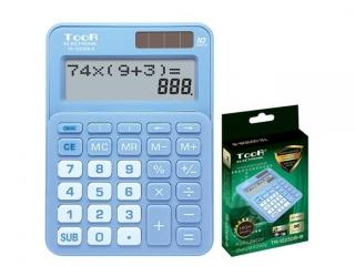 Kalkulator dwuliniowy TOOR TR-1223DB-B 10-pozycyjny niebieski