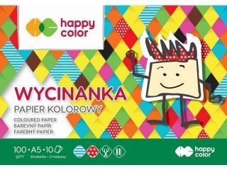 Blok Wycinanka, A5 10 ark, 100 g, Happy Color [opakowanie=20