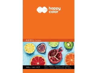 Blok do akrylu, Art., A4, 10 ark, 360g, Happy Color