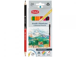 Kredki o³ówkowe TOMA dwustronne 24 kolory