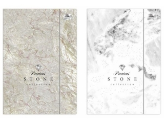 Teczka z gumk± A4+ INTERDRUK LUX Metallic stone