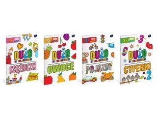 Kolorowanka INTERDRUK A4 16k.  z naklejkami Du¿o do kolorowania