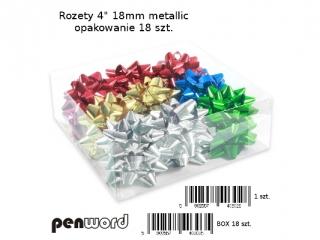 "ROZETY 4"" 18mm METALIC a18"