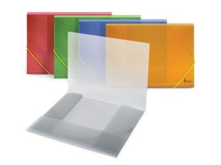 Teczka PCV A4 z gumk± ¿ó³ta transparent. FO21415 [opakowanie
