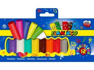 Plastelina FLAMINGO 12 kolorów
