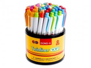 Zakre¶lacz dwustronny DONG-A pastelowy display 60szt.
